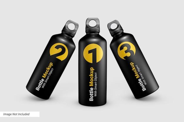 Design de maquete de garrafa de água esportiva isolado