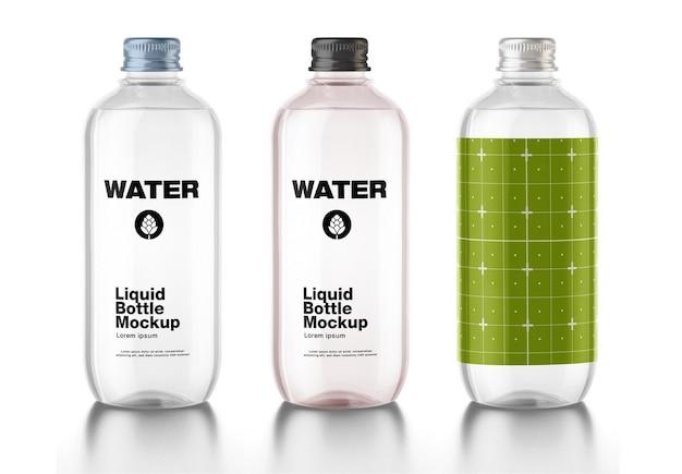 Design de maquete de garrafa de água