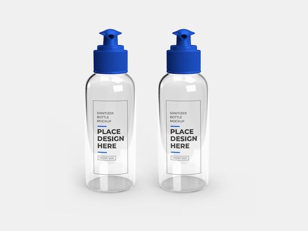 Design de maquete de garrafa de bomba de desinfetante