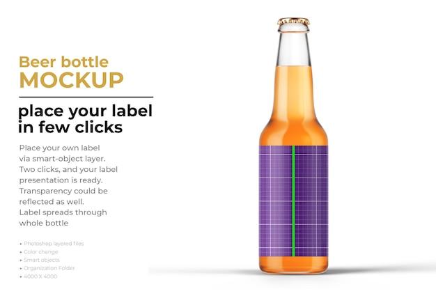 Design de maquete de garrafa de cerveja