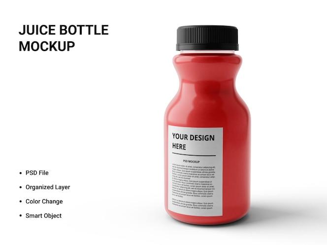 design de maquete de garrafa de suco