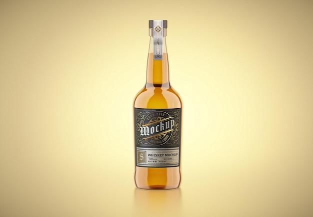 Design de maquete de garrafa de uísque de vidro