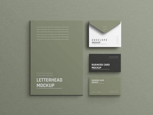 Design de maquete de identidade corporativa de papelaria mínimo
