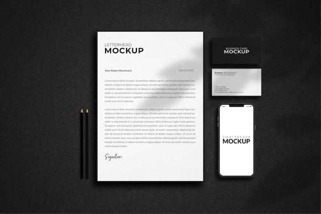 Design de maquete de identidade corporativa