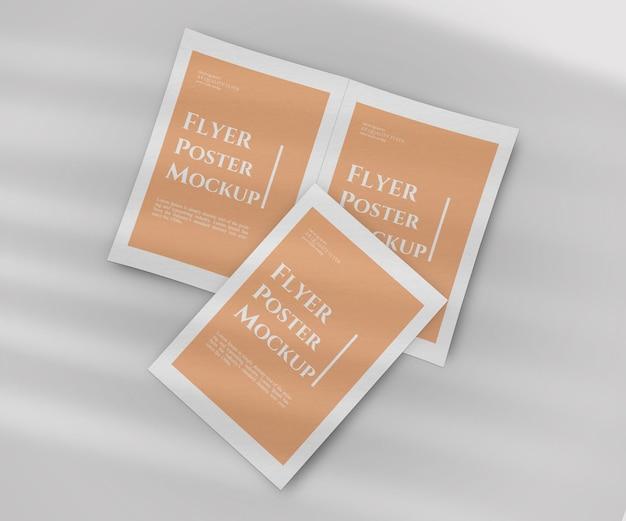 Design de maquete de impressão a4 editável