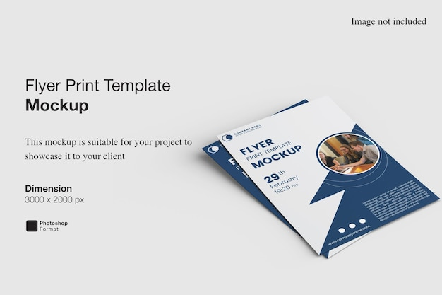 Design de maquete de impressão de panfleto isolado