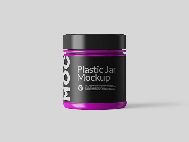 Design de maquete de jarra de plástico