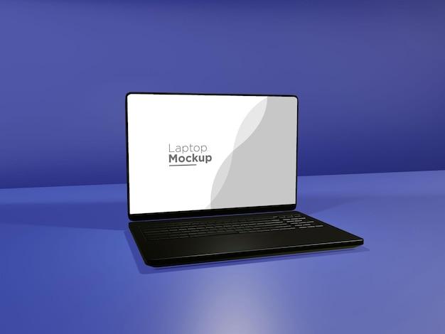 Design de maquete de laptop em preto metálico