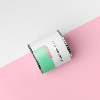 Design de maquete de lata de lata