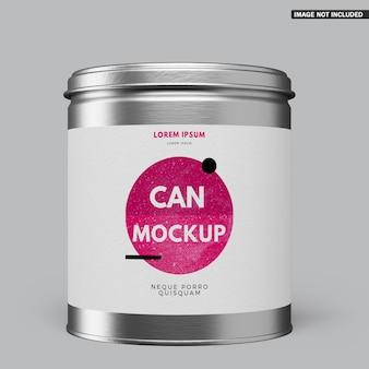 Design de maquete de lata redonda
