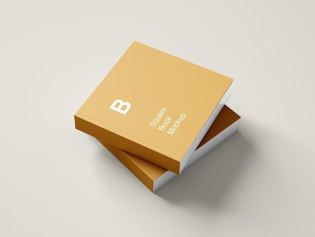 Design de maquete de livro de capa dura quadrado