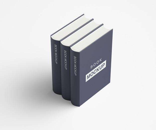 Design de maquete de livro ou revista de capa mole