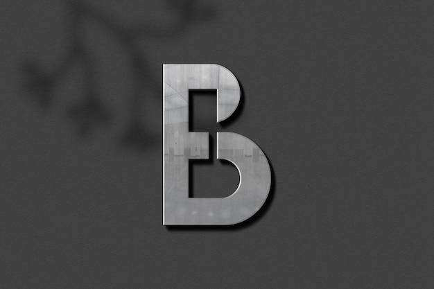 Design de maquete de logotipo 3d