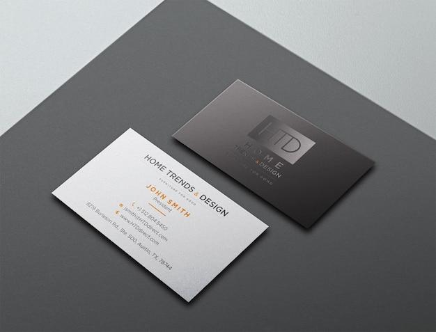Design de maquete de logotipo de cartão de visita escuro de luxo