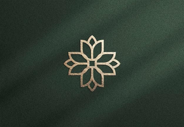 Design de maquete de logotipo de luxo ouro