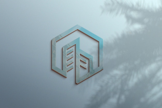 Design de maquete de logotipo de luxo