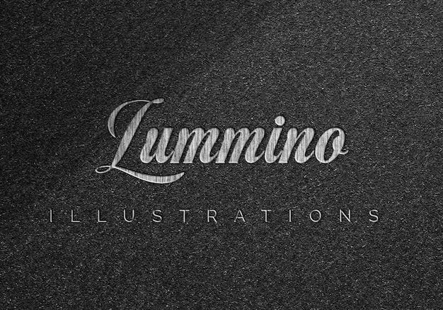 Design de maquete de logotipo elegante em parede áspera