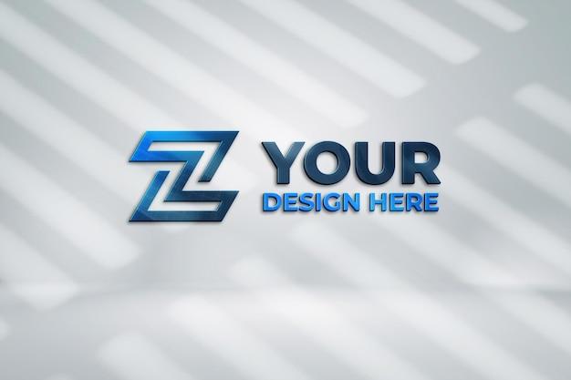 Design de maquete de logotipo em renderização 3d