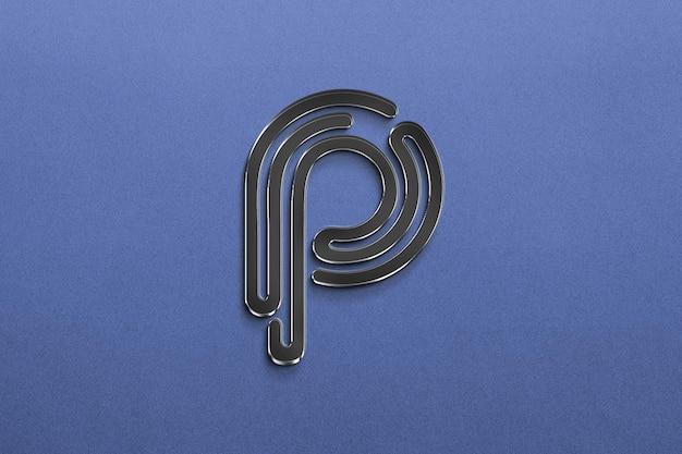 Design de maquete de logotipo escuro de luxo