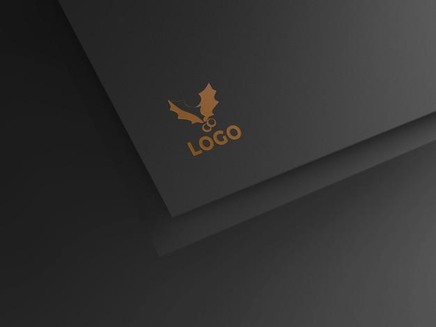 Design de maquete de logotipo ouro premium de alta qualidade psd