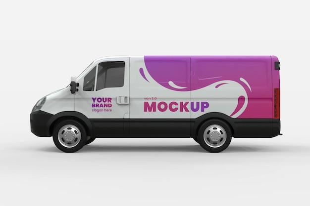 Design de maquete de marca de carro de van