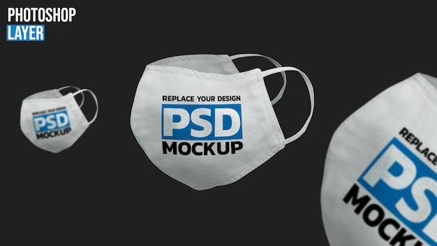 Design de maquete de máscara facial