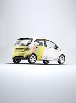 Design de maquete de mini carro em renderização 3d