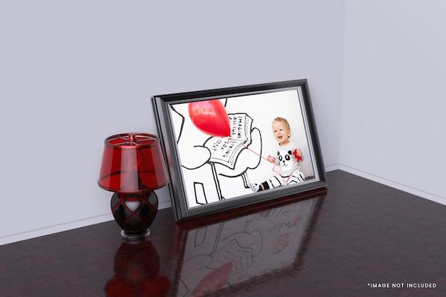 Design de maquete de moldura de foto 3d
