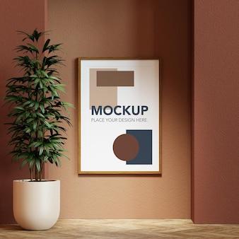 Design de maquete de moldura de foto em branco