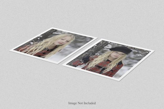 Design de maquete de moldura de foto polaroid