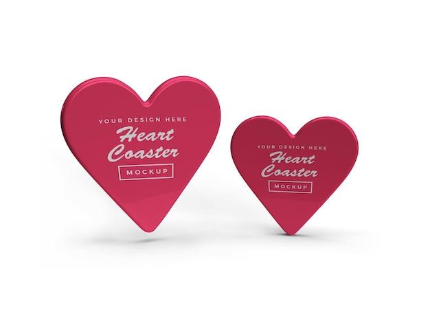 Design de maquete de montanha-russa de coração isolado