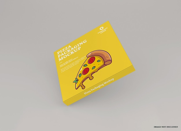 Design de maquete de pacote de pizza