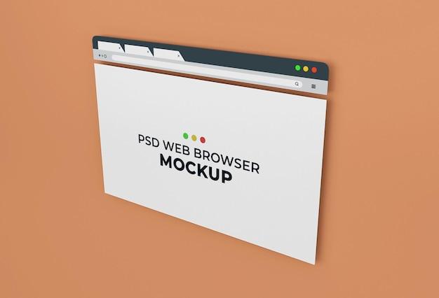 Design de maquete de página de navegador de internet