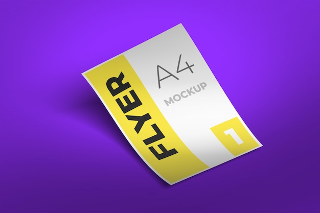 Design de maquete de panfleto