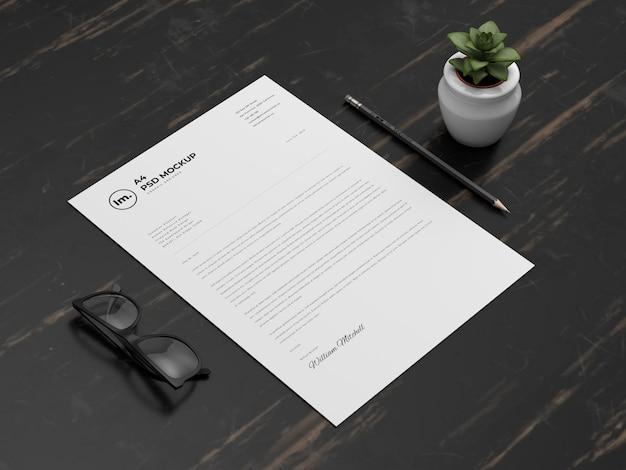 Design de maquete de papel a4