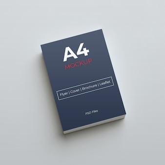 Design de maquete de papel de tamanho a4