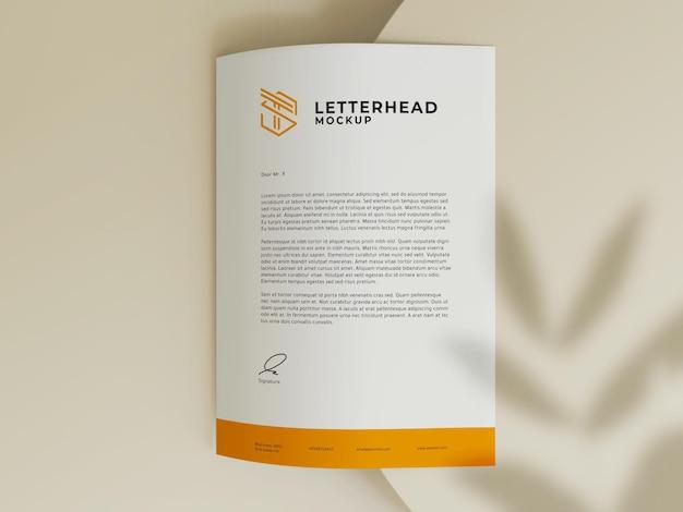 Design de maquete de papel timbrado