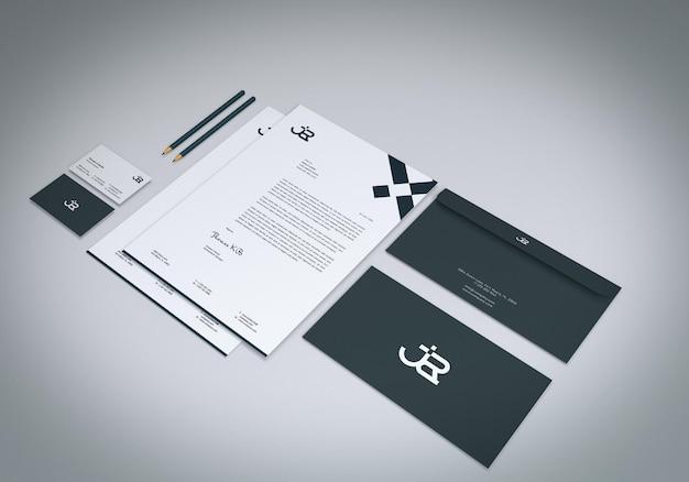 Design de maquete de papelaria simples