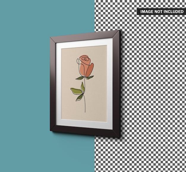 Design de maquete de porta-retratos