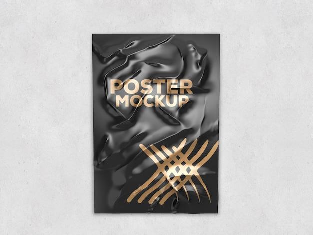 Design de maquete de pôster colado em renderização 3d