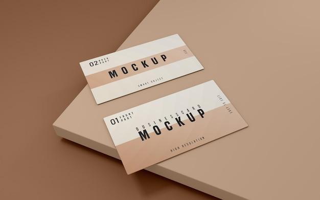 Design de maquete de psd de cartão de visita limpo
