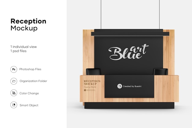 Design de maquete de recepção isolado