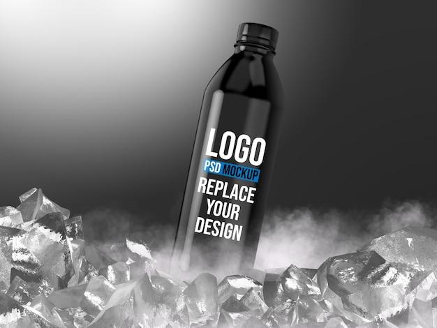 Design de maquete de renderização 3d de garrafa