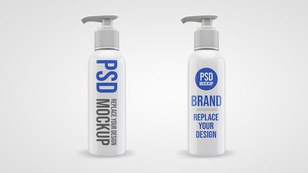 Design de maquete de renderização 3d de gel de bomba