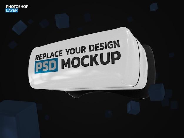 Design de maquete de renderização 3d de realidade virtual