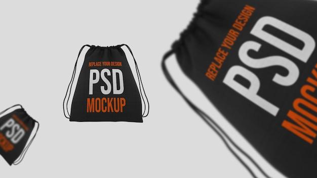 Design de maquete de renderização 3d de sacola