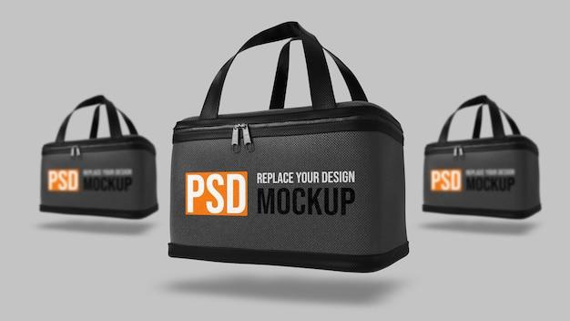 Design de maquete de renderização 3d para caixa de entrega de comida