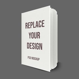Design de maquete de renderização em 3d de livro Psd Premium
