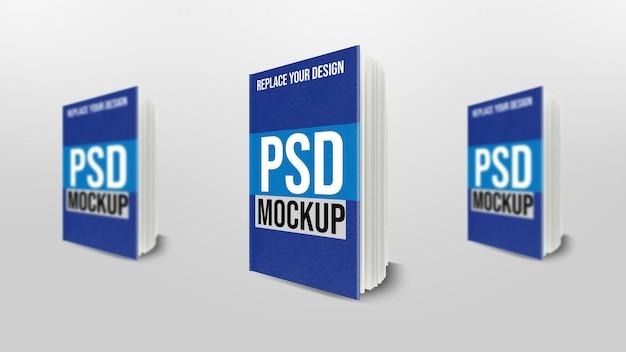 Design de maquete de renderização em 3d de livro