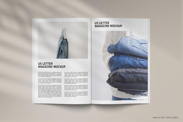 Design de maquete de revista
